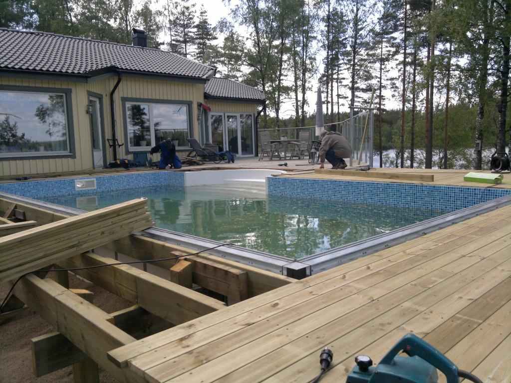 isolering under pool